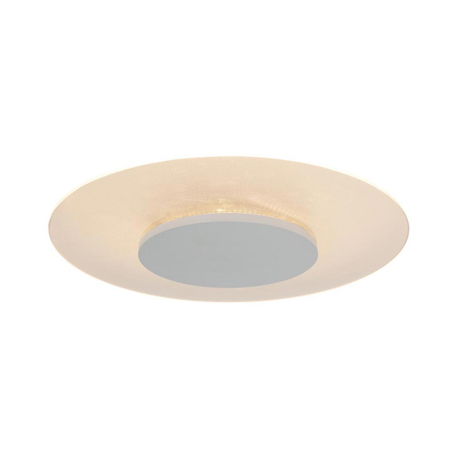 Ronde LED plafondlamp Birma in wit, dimbaar