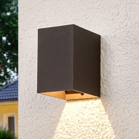 Tmavě šedé LED venkovní nástěnné svítidlo Mikka