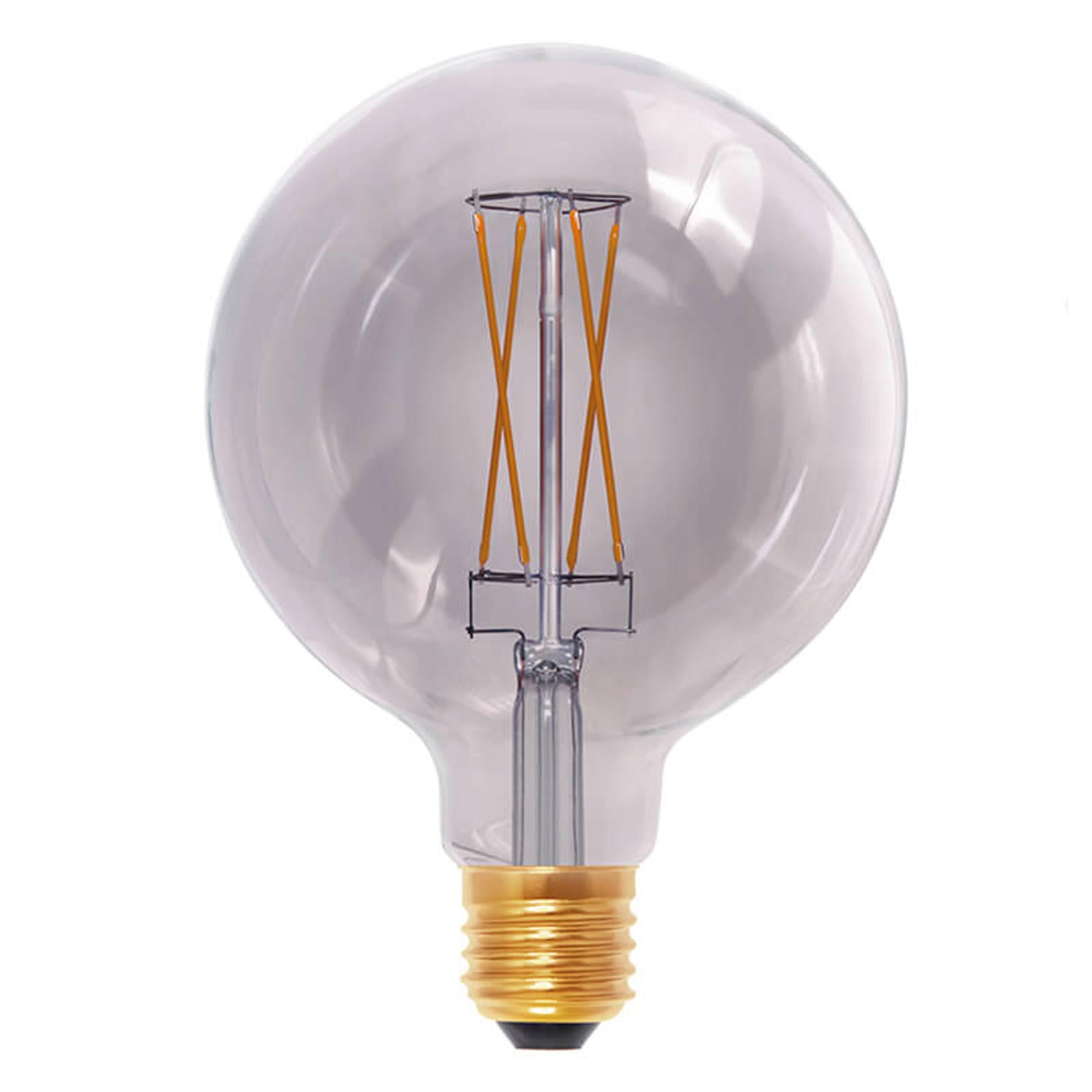 E27 6W 920 LED-Globelampe smokey grey