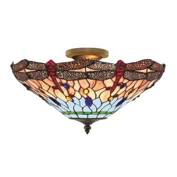 Deckenleuchte Dragonfly im Tiffany-Stil