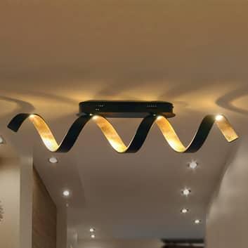 LED-Deckenleuchte Helix in Schwarz-Gold