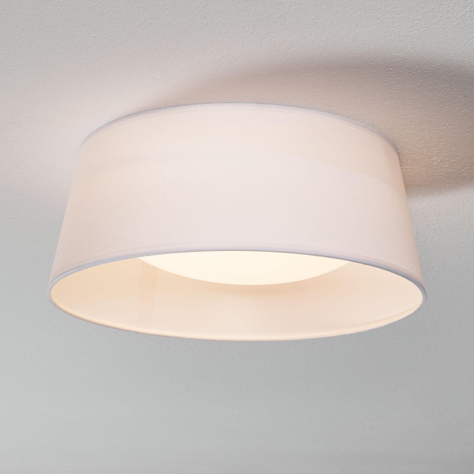 Witte textiel plafondlamp Ponts met LED's