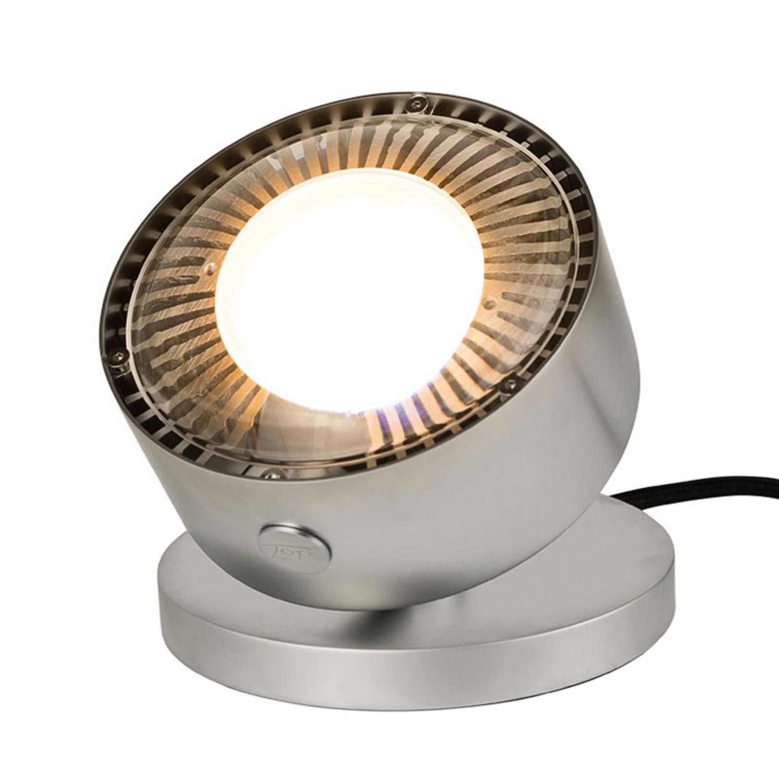 Faretto LED da tavolo Puk Maxx Spot cromo satinato