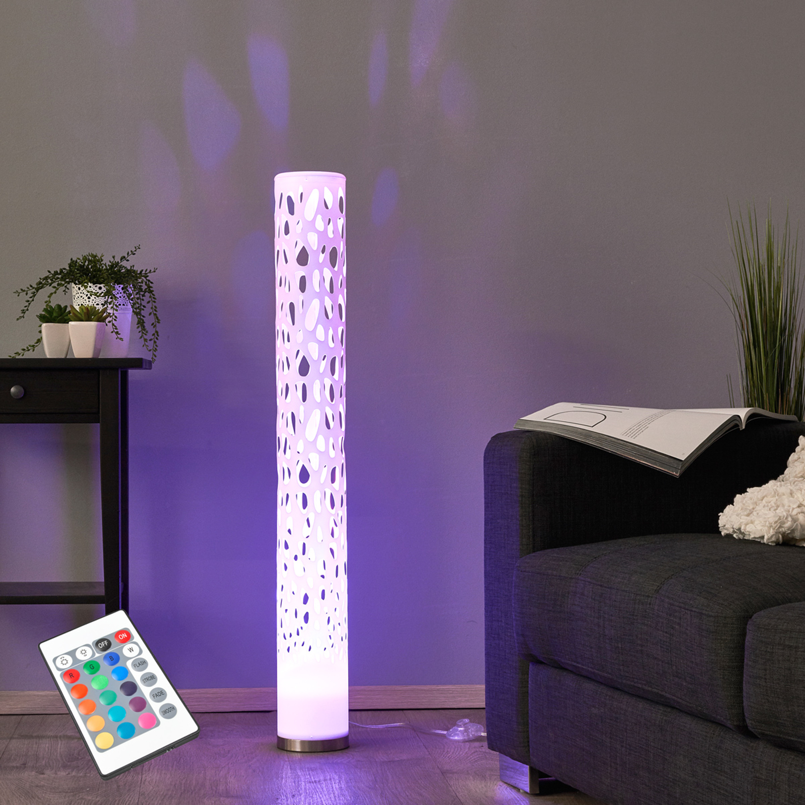 Lampadaire LED RVB décoratif Alisea