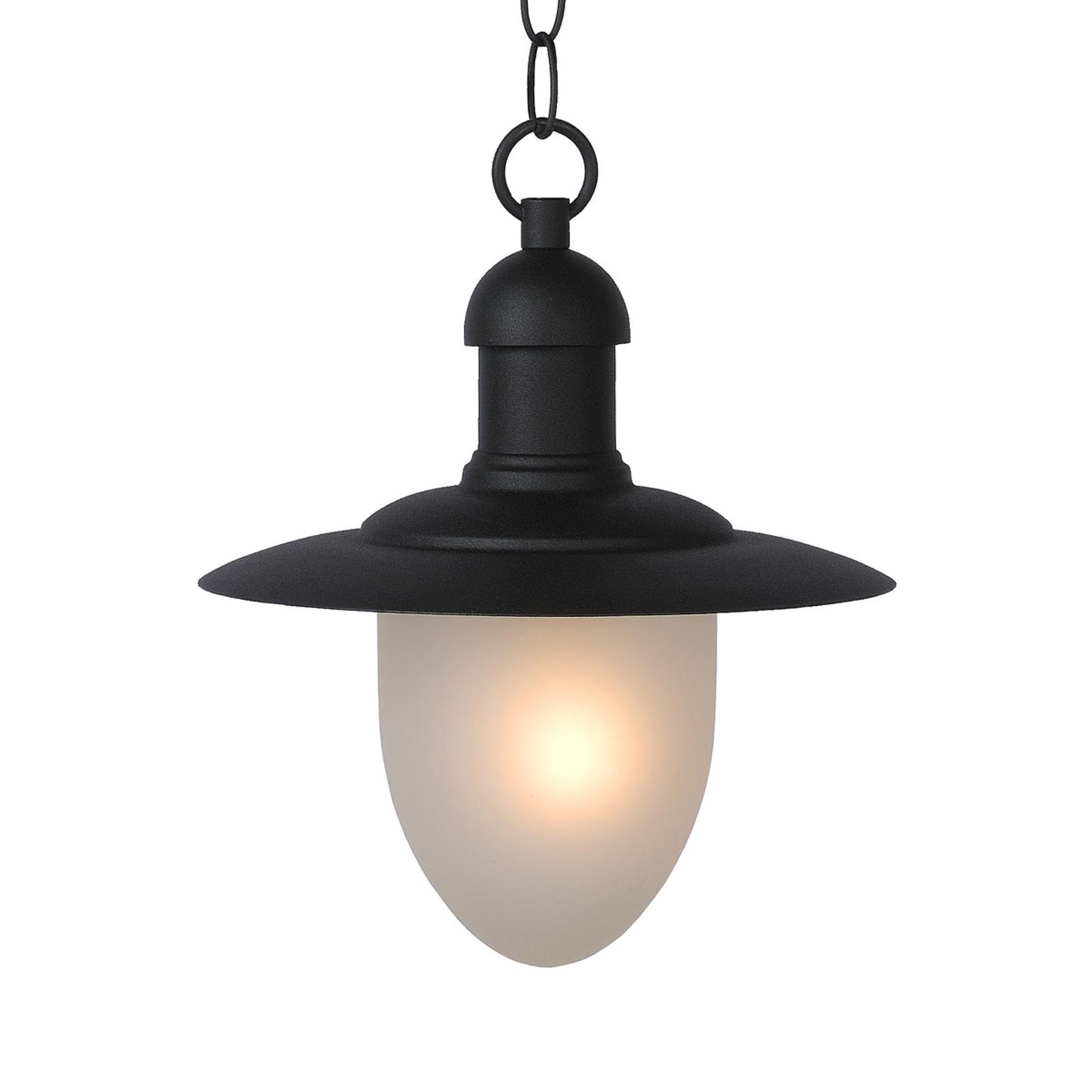 Cottage udendørs hængelampe, sort