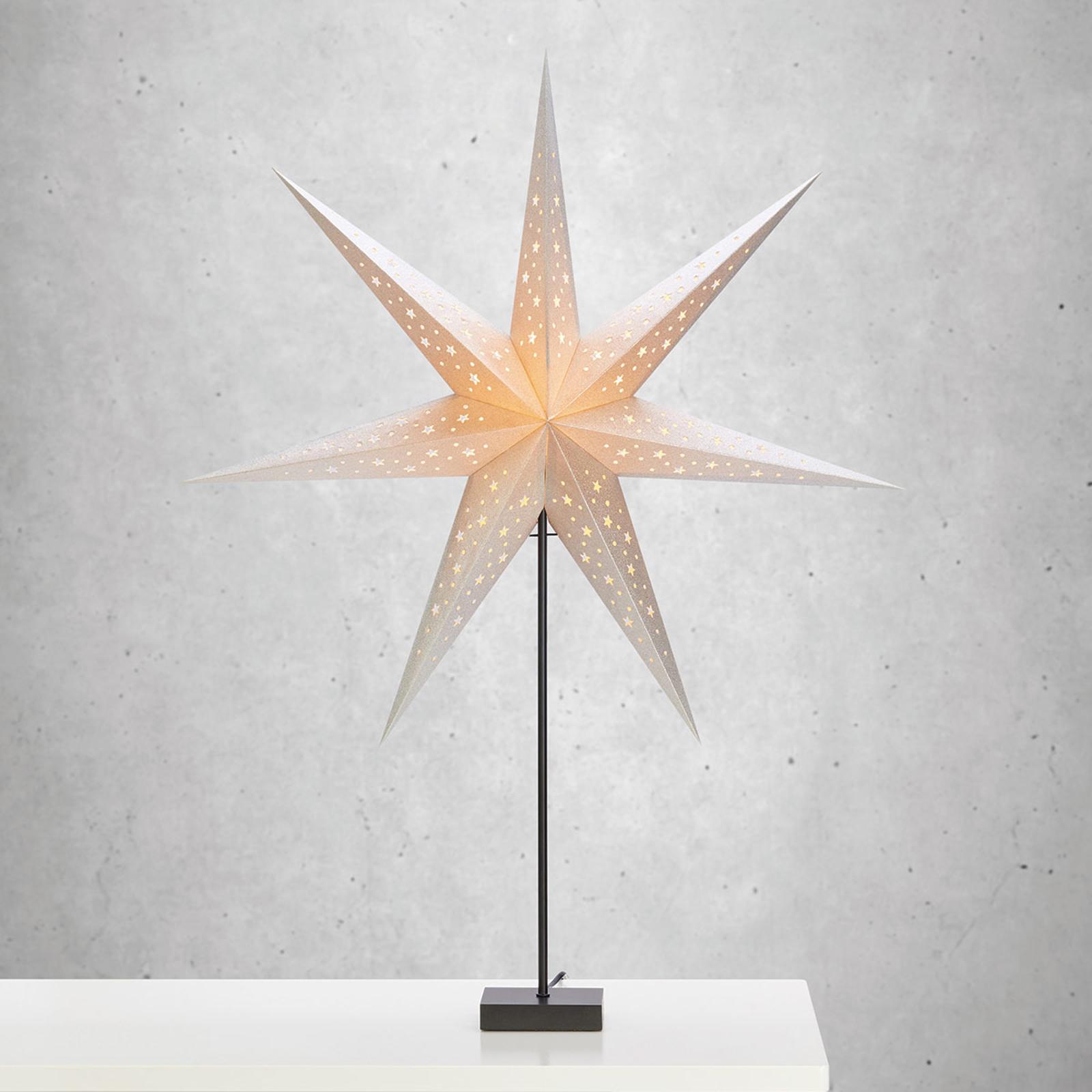 Lampada da tavolo a stella Solvalla 100cm argento