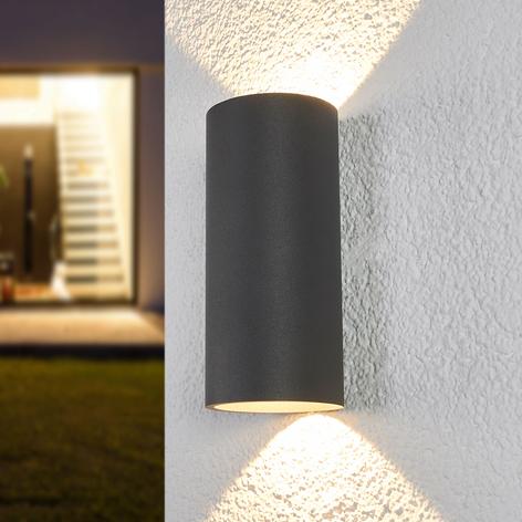 Sylinderformet LED-vegglampe Helma til utebruk