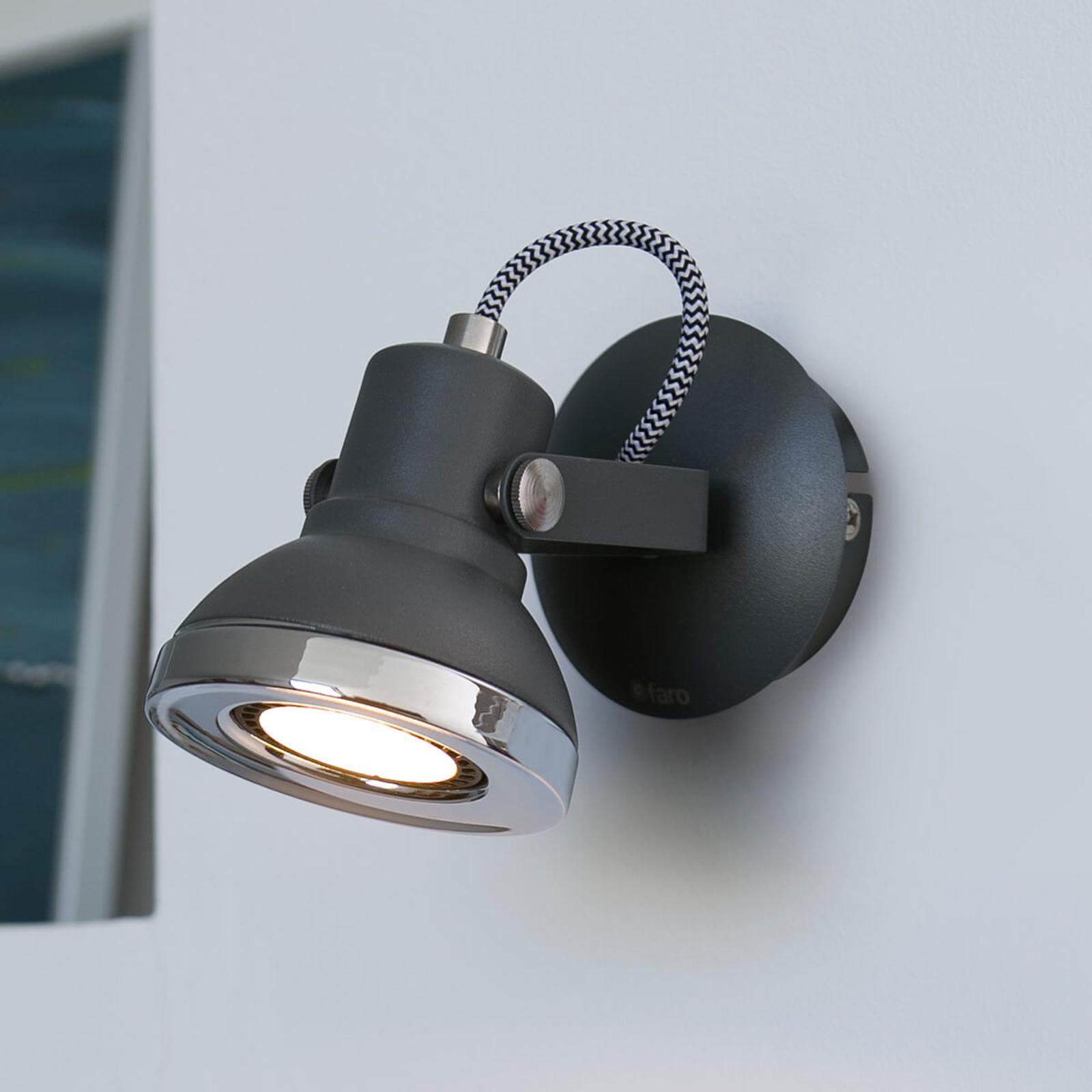 Ring - einflammiger LED-Wandstrahler in Dunkelgrau