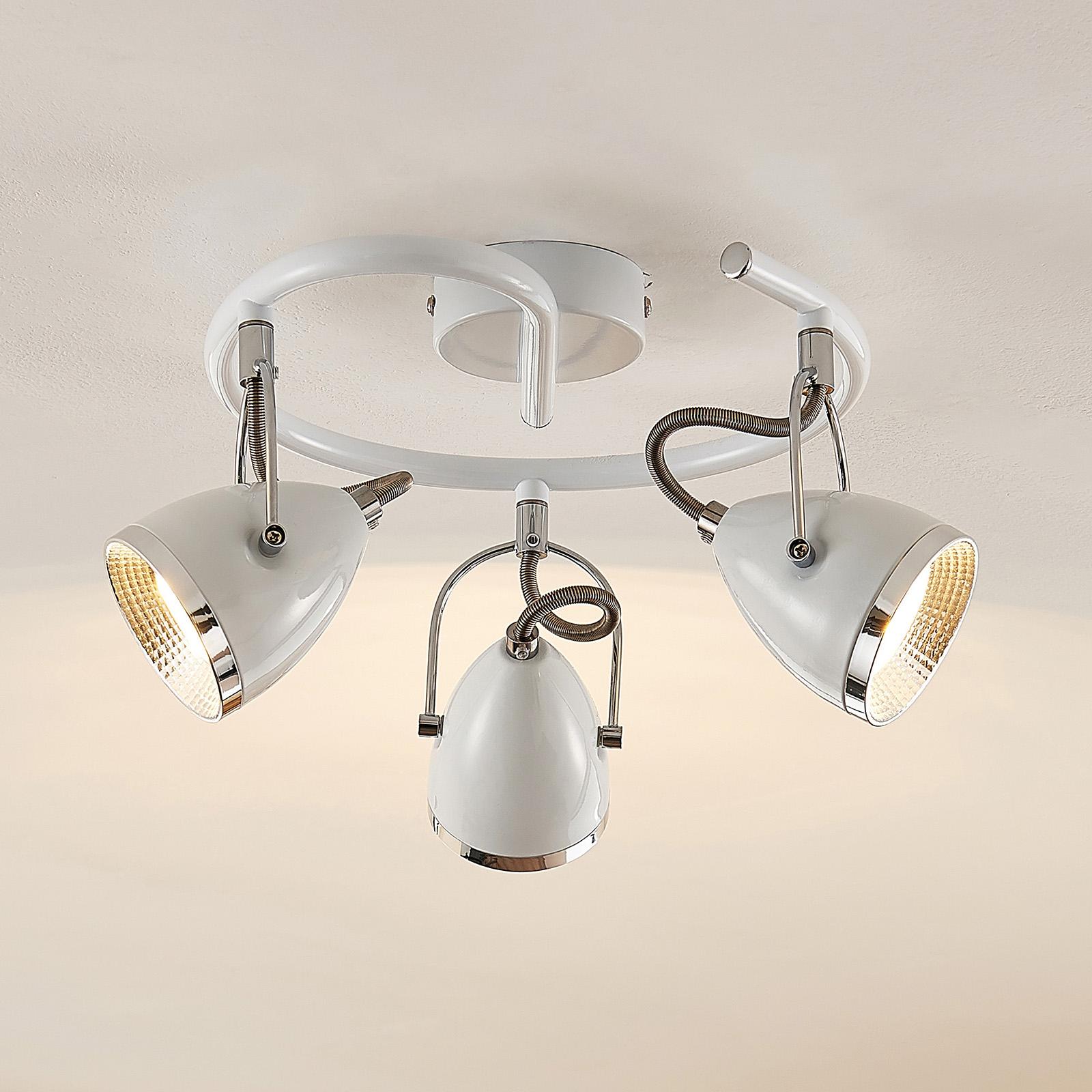 Lindby Jadon LED-Deckenrondell weiß 3-flg. 29,7 cm
