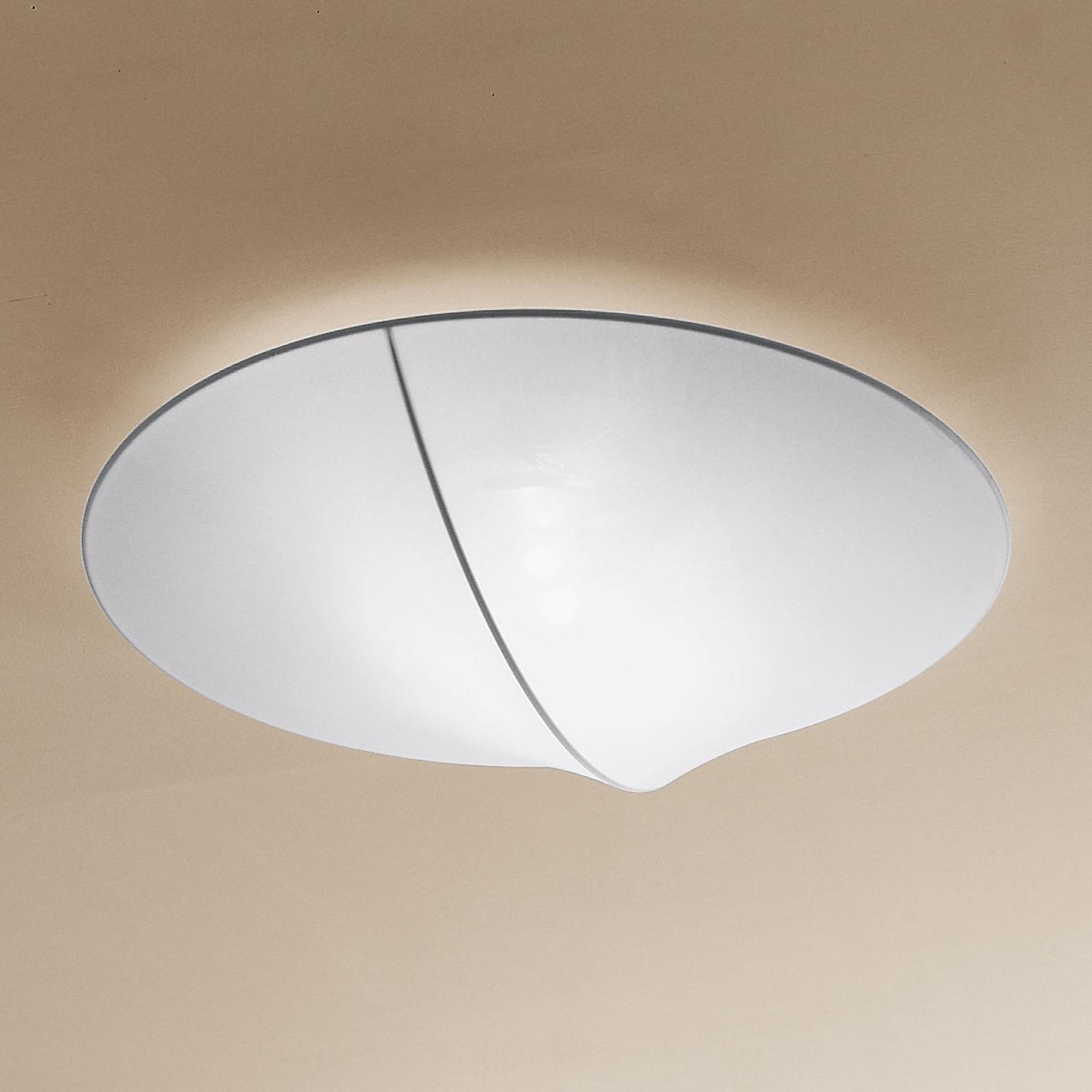 Axolight Nelly tekstylna lampa sufitowa biała 60cm