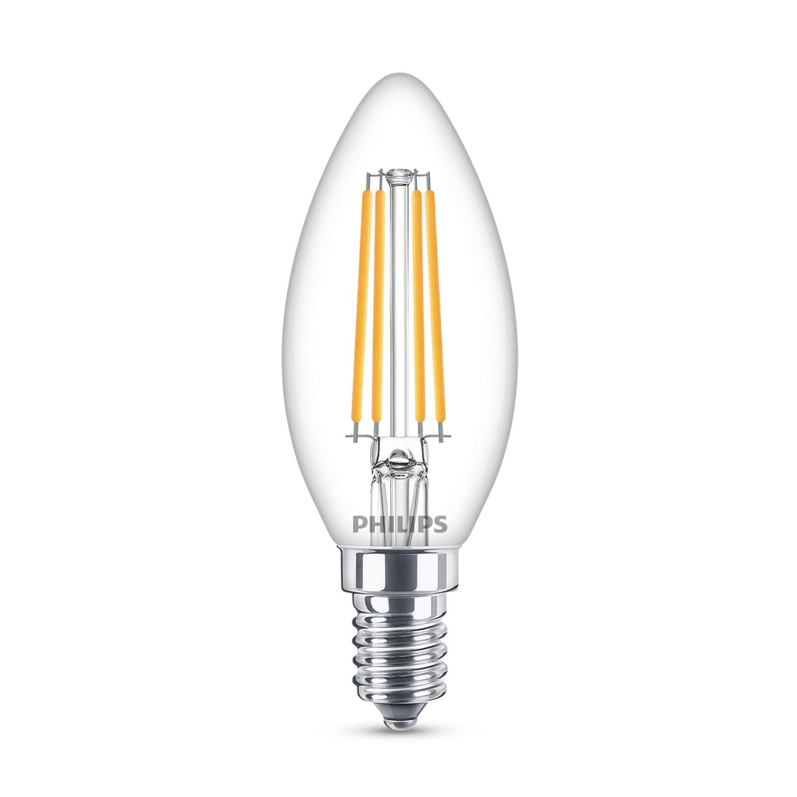 Philips Classic LED-Lampe E14 B35 6,5W klar 4.000K