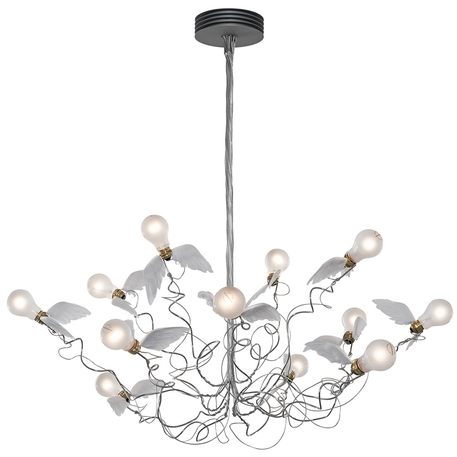 Ingo Maurer Birdie - lampa wisząca LED kabel jasny
