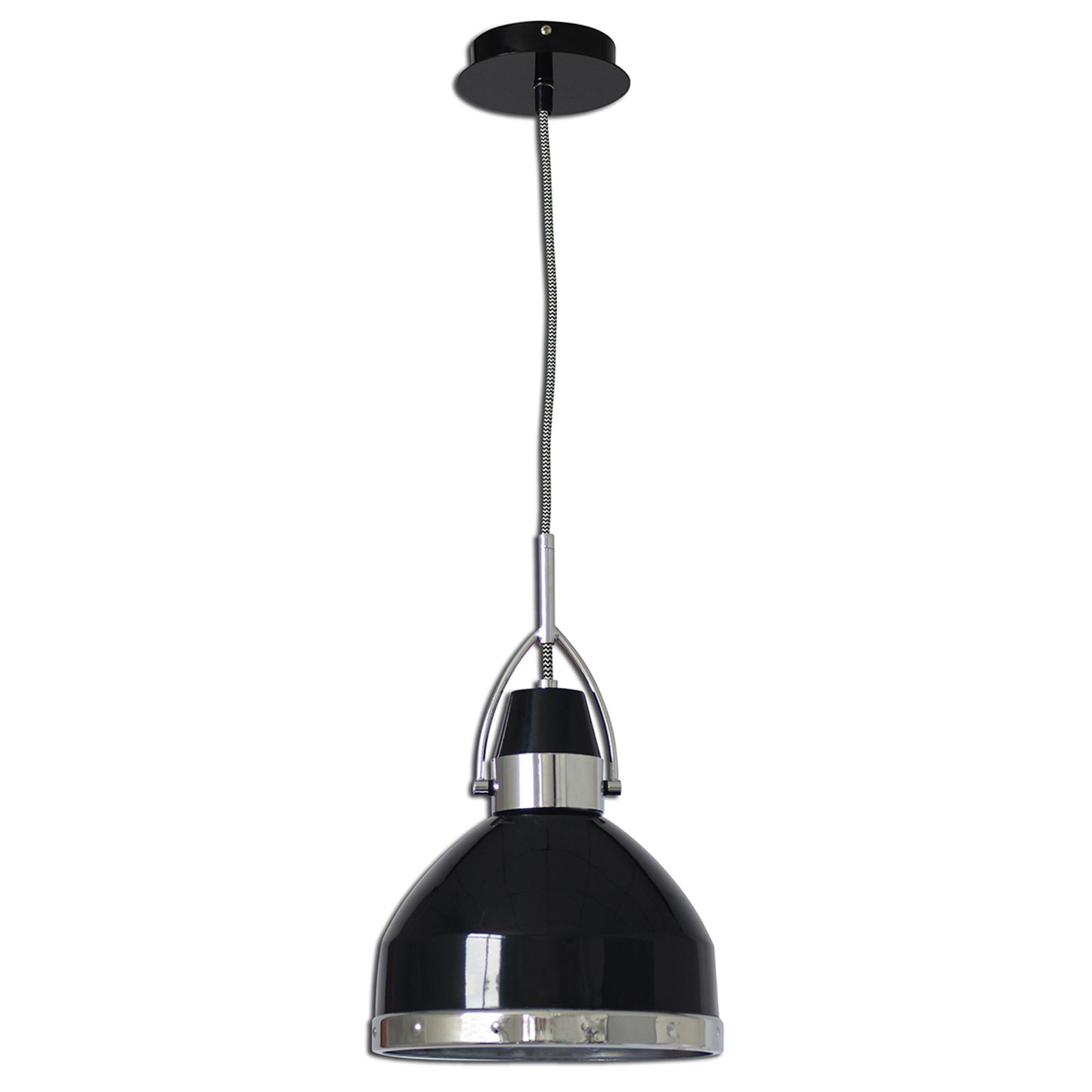 Industriální závěsné světlo Britta, černé