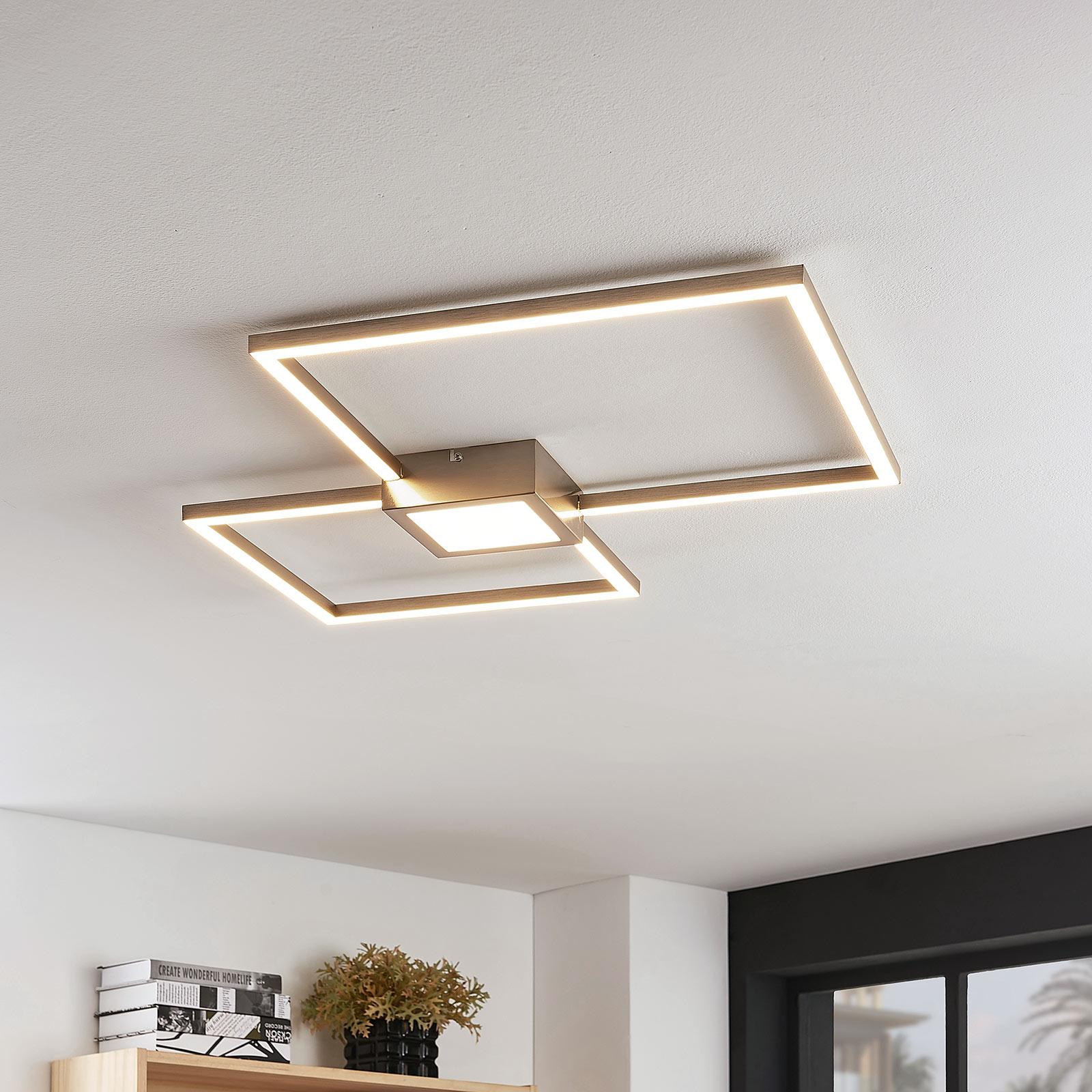 LED-loftlampe Duetto, kvadrater