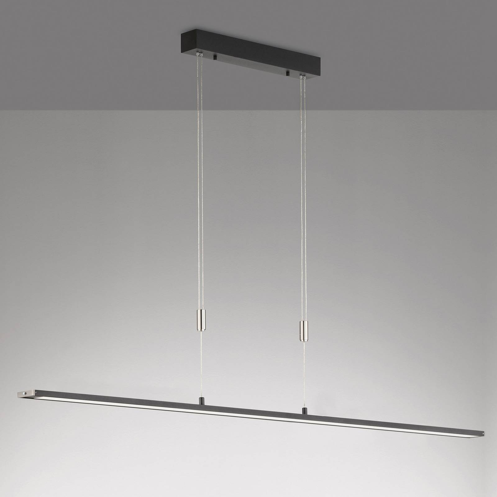 LED hanglamp Metz TW, CCT, lengte 160 cm, zwart