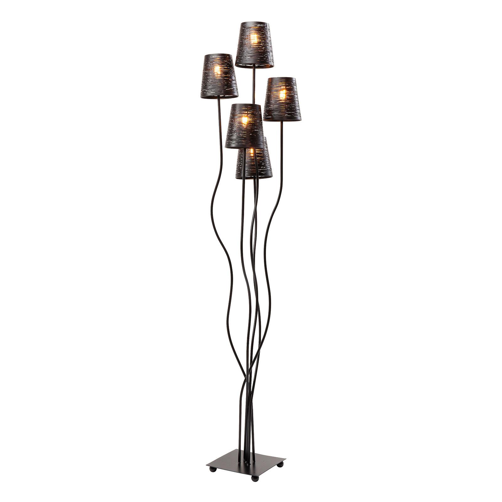 KARE Flexible lampadaire à 5 lampes noir