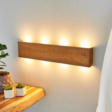 Applique a LED Maja dimmerabile effetto ruggine