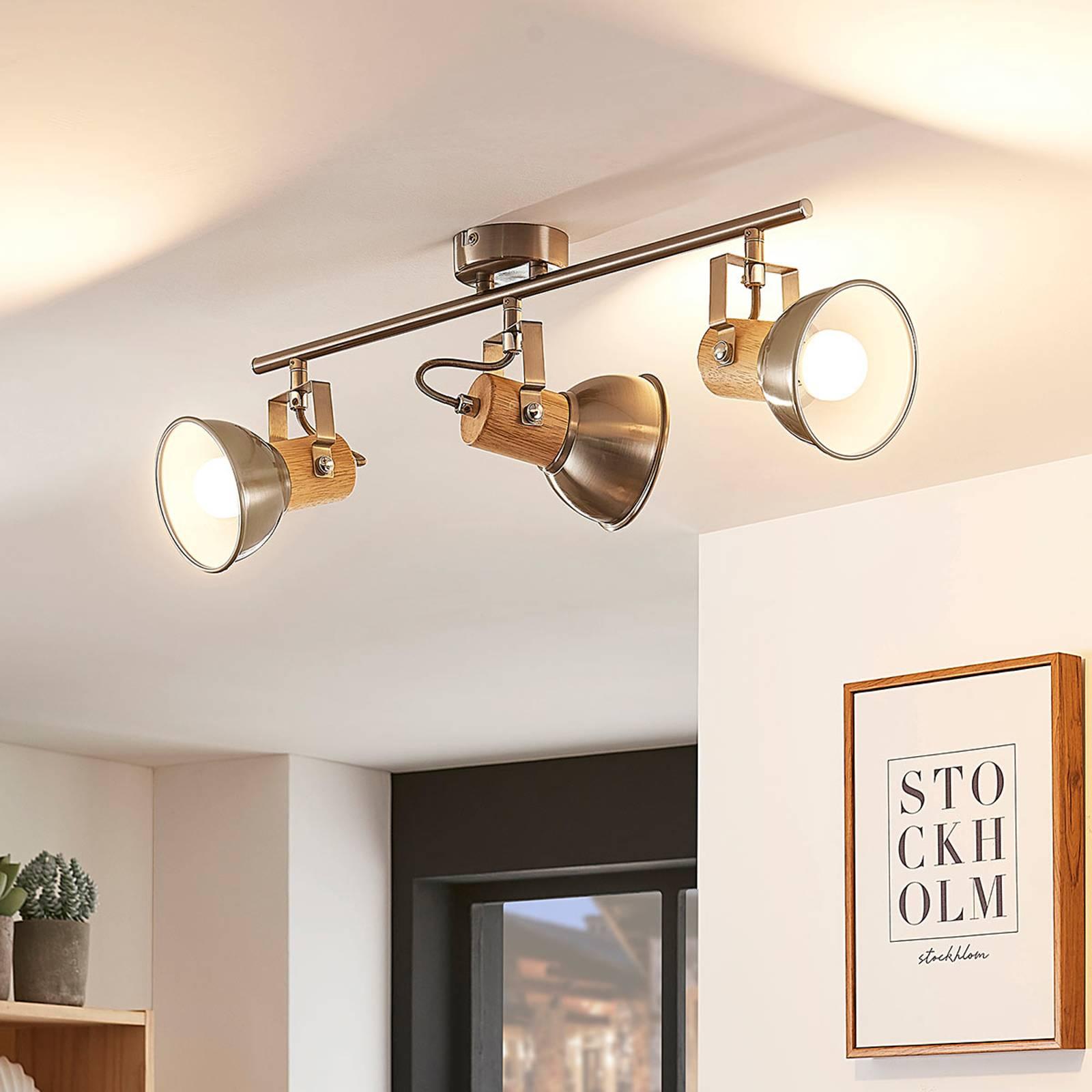 Dennis – 3-punktowa, podłużna lampa sufitowa LED