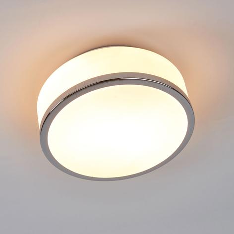 Lámpara de techo Flush IP44, Ø 23cm, cromo