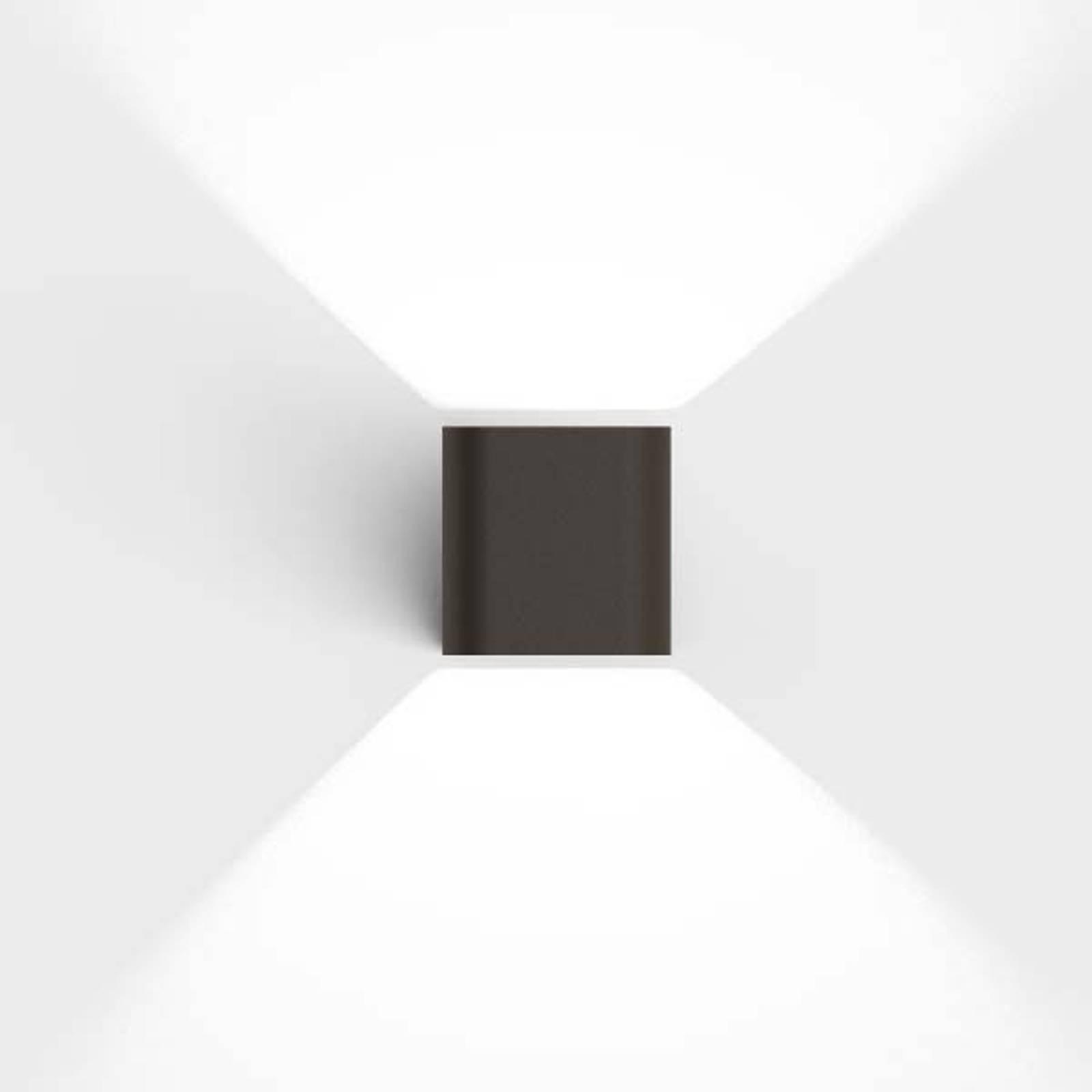 IP44.de Intro 2.0 LED-Außenwandleuchte, cool brown