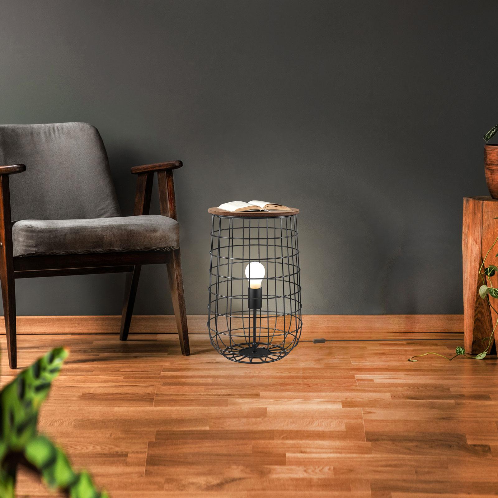 Lampadaire Sila avec fonction table, Ø 25cm