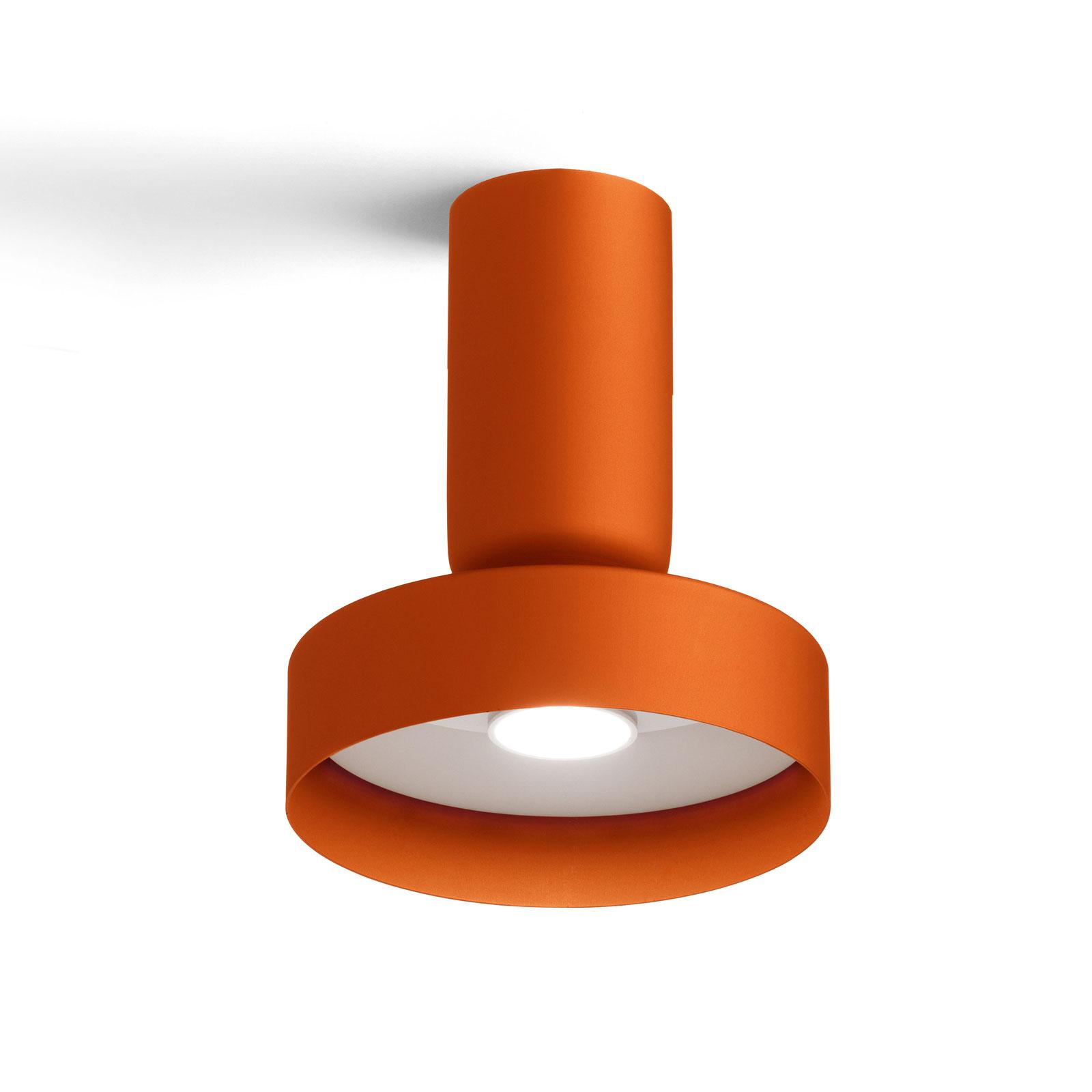 Modo Luce Hammer lampa sufitowa Ø18cm pomarańczowa
