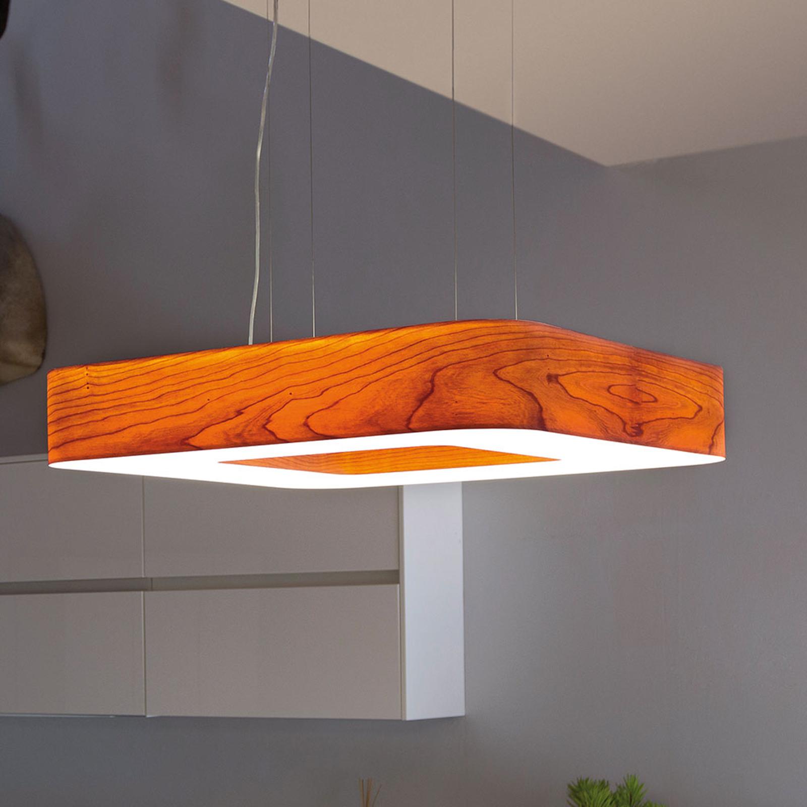 LZF Cuad LED-Hängeleuchte 0-10V dim, kirschbaum