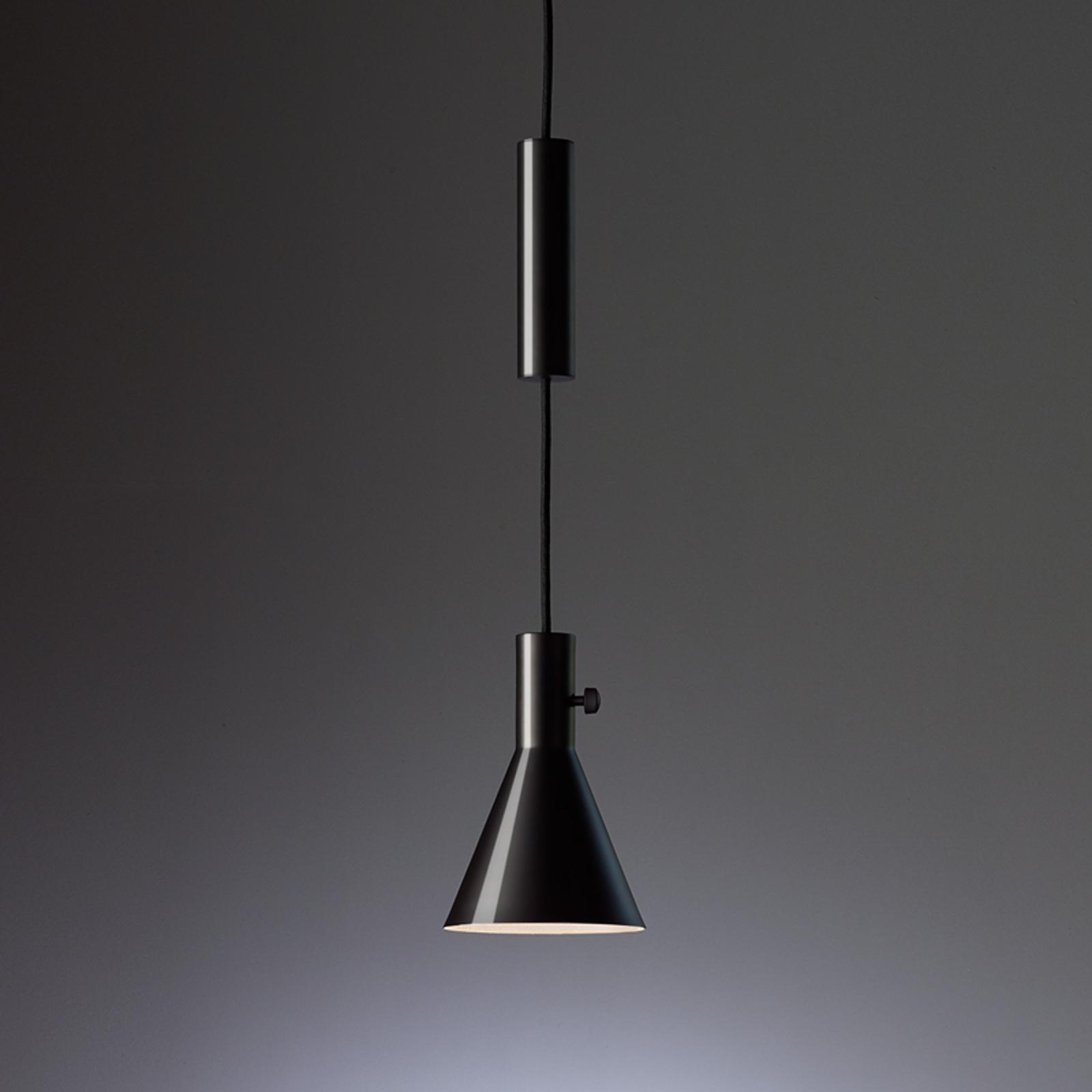 Eleu - glanzende zwarte led hanglamp