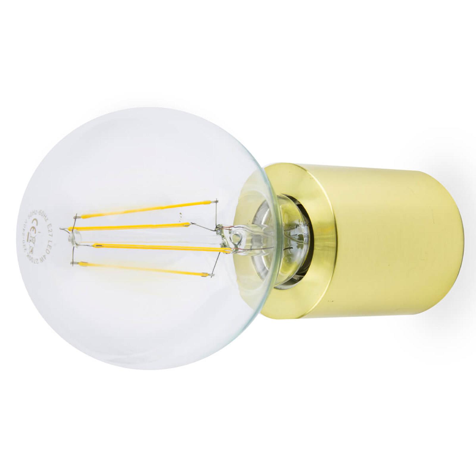Ten - minimalistische wandlamp, verzadigend goud