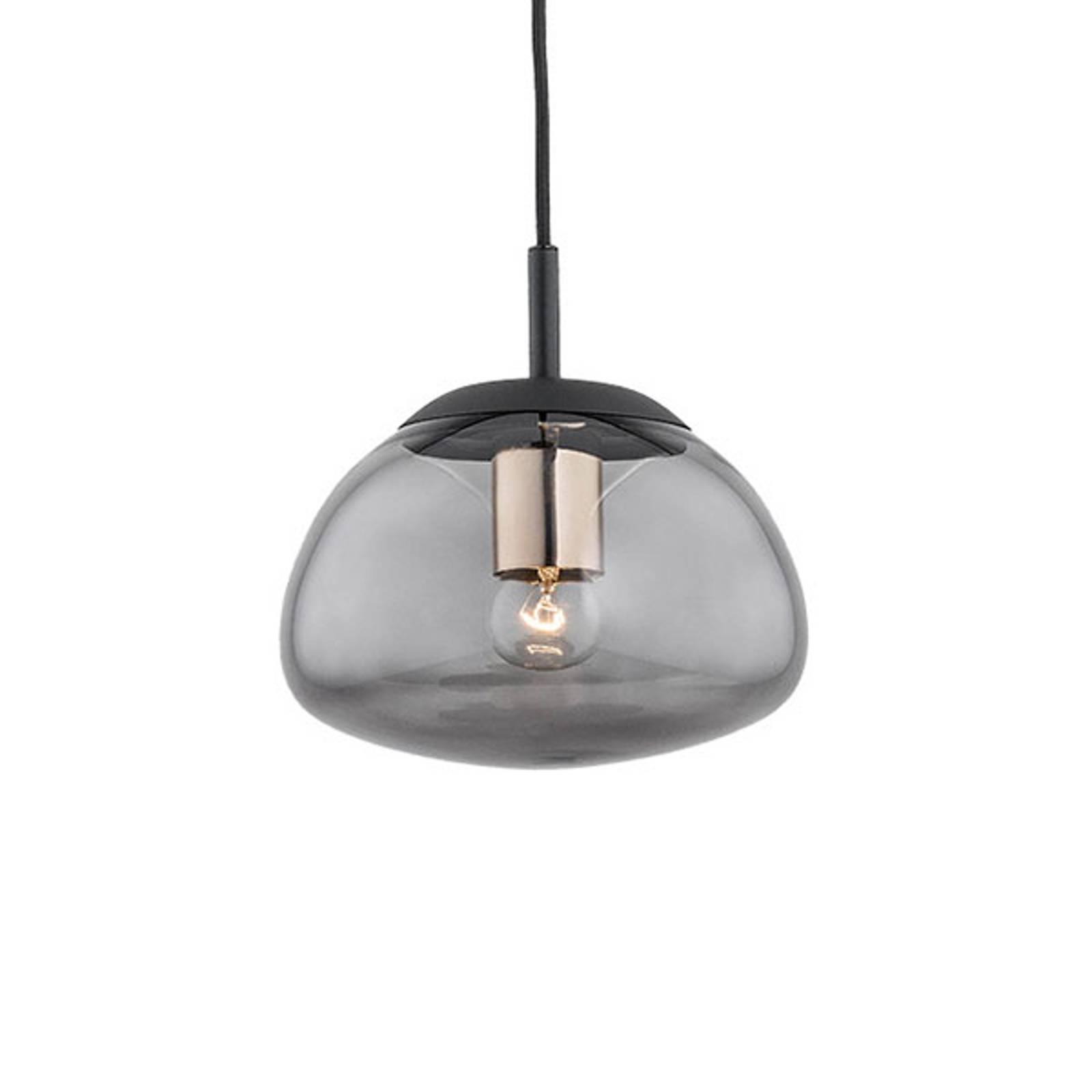 Suspension Turku 1 lampe fumée/noire Ø 20cm