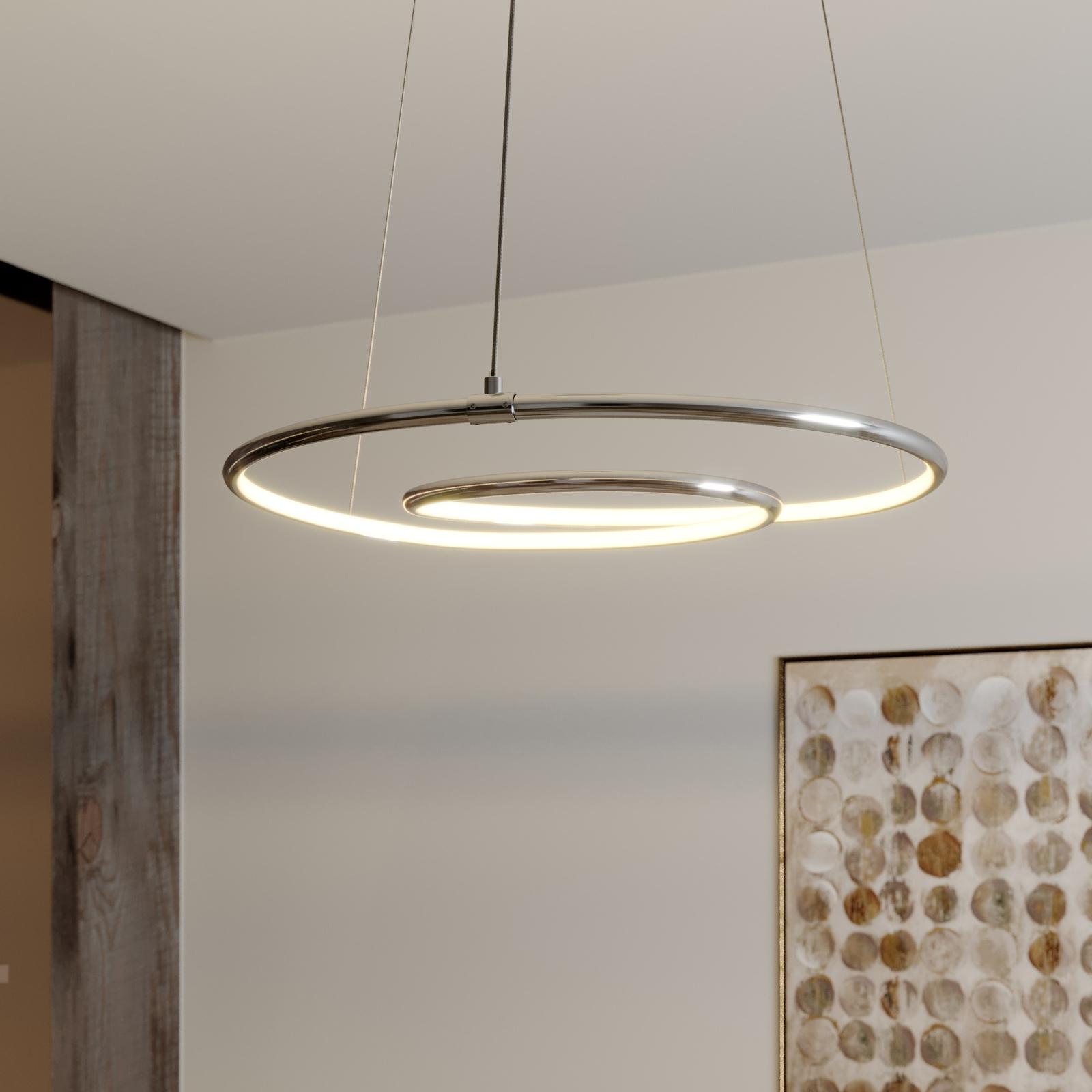Lindby Lucy LED-hengelampe, 45 cm, krom