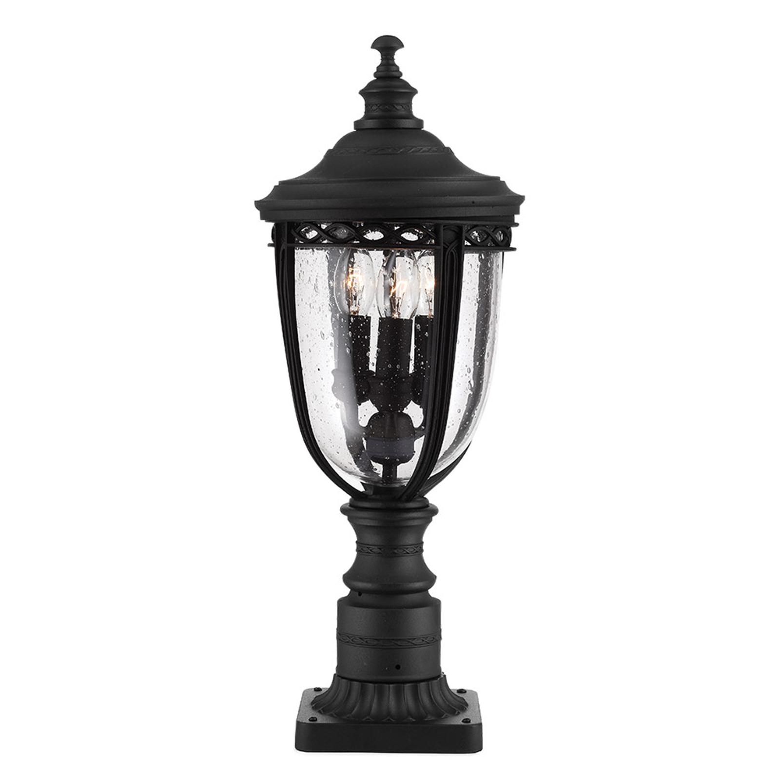 Sokkellamp English Bridle, zwart