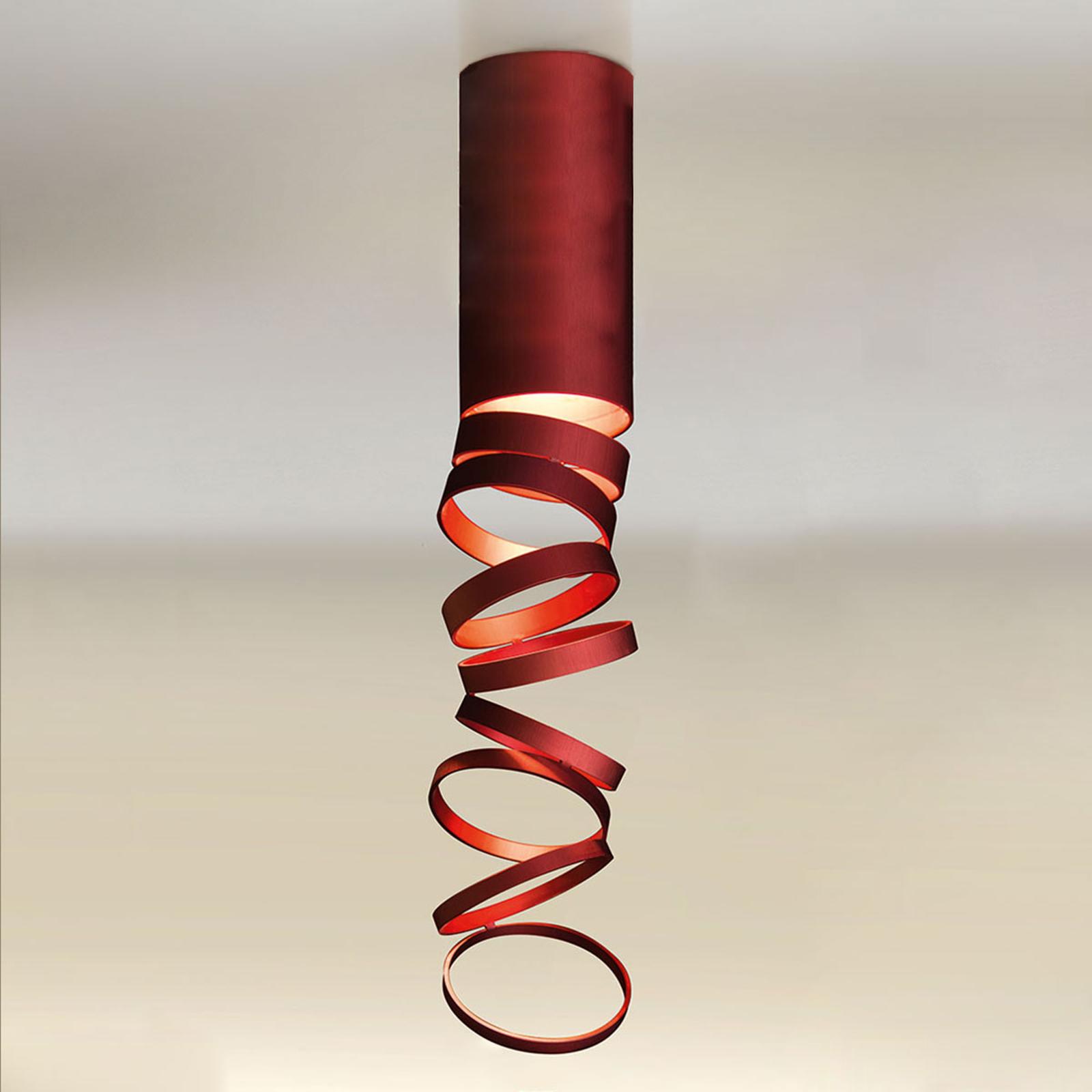 Artemide Decomposé lampa sufitowa czerwona