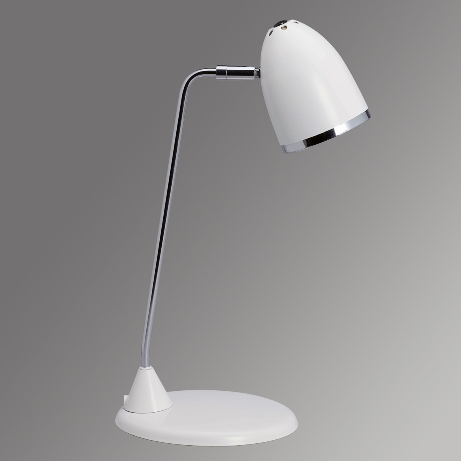 Peppige bureaulamp Starlet - wit