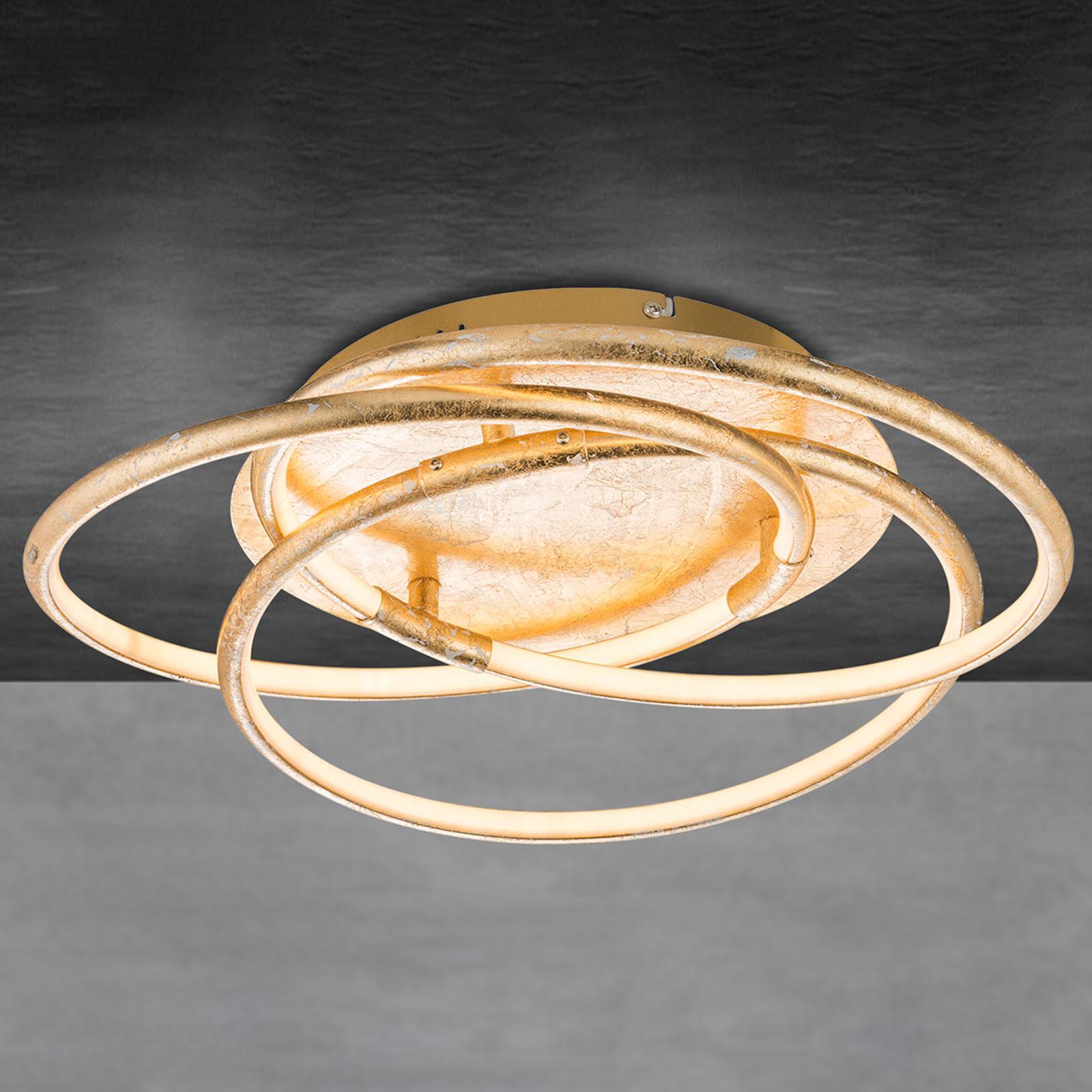 Barna – złocista lampa sufitowa LED