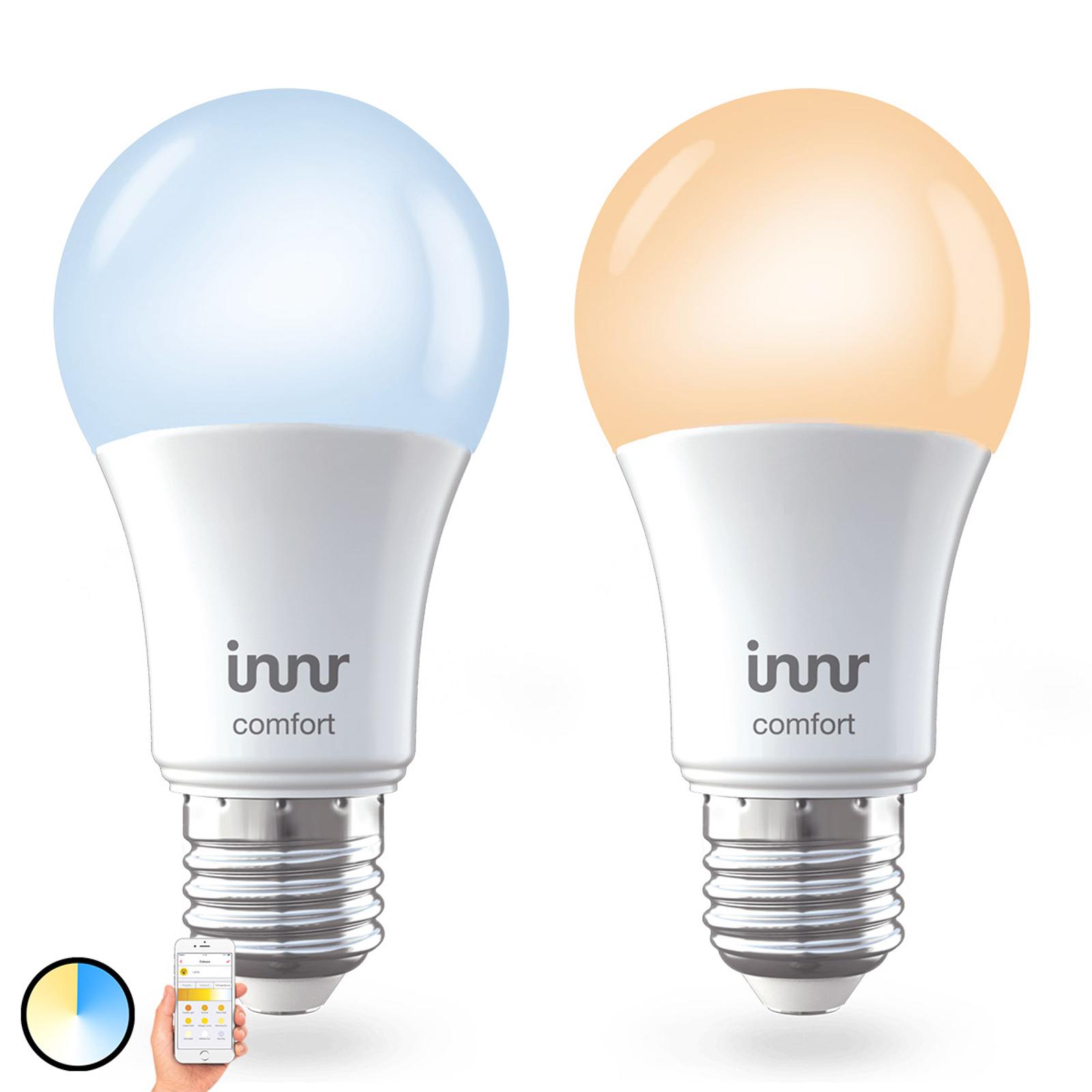 E27 9W LED-Lampe Innr Smart Bulb Comfort, 2er-Pack