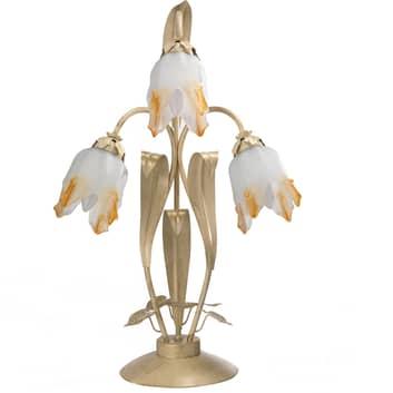 Bordslampa Elena i blomform, 3 lampor