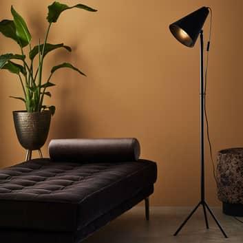 Lámpara de pie trípode Cilla, negro