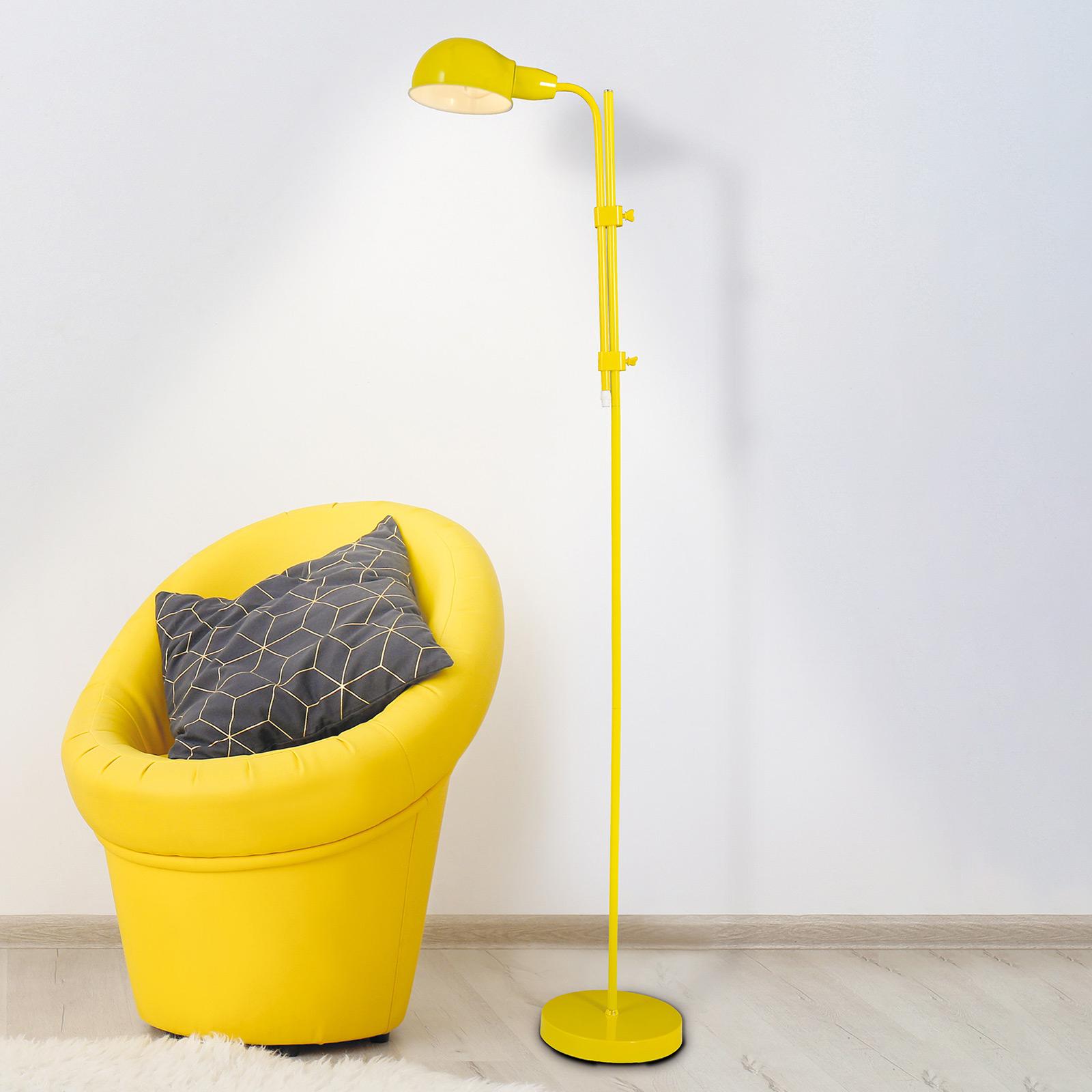 Vloerlamp Alani met klik-schakelaar, geel