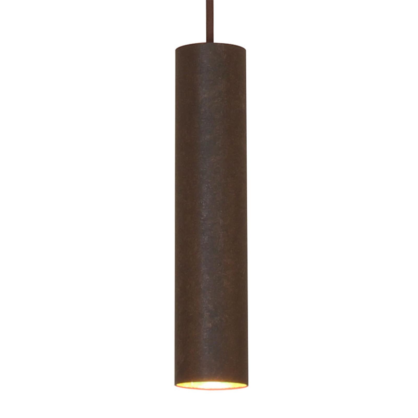 Menzel Solo Pipe hanglamp, bruin-zwart