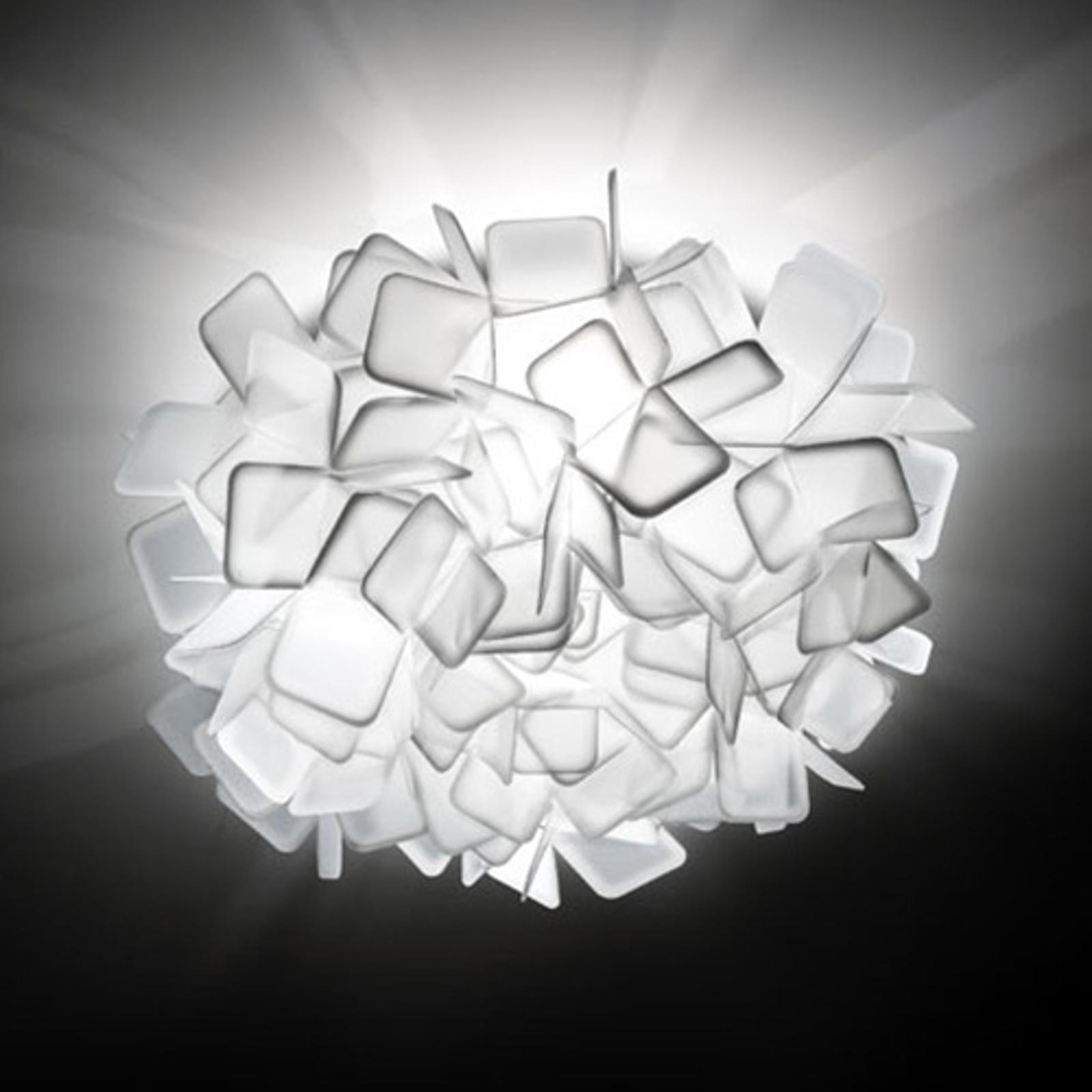 Uvanlig vegglampe Clizia, hvit
