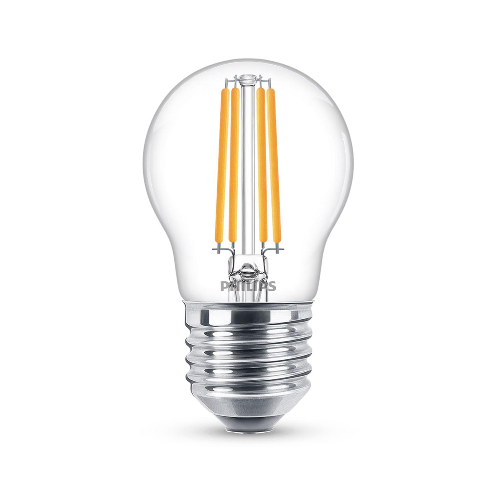 Philips Classic LED-Lampe E27 P45 6,5W 2.700K klar