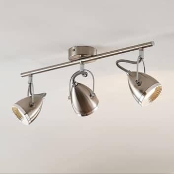 Lindby Jadon spot sufitowy LED nikiel 3-pkt. długi