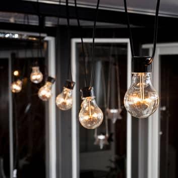 LED-ljusslinga Biergarten grundset, bärnsten