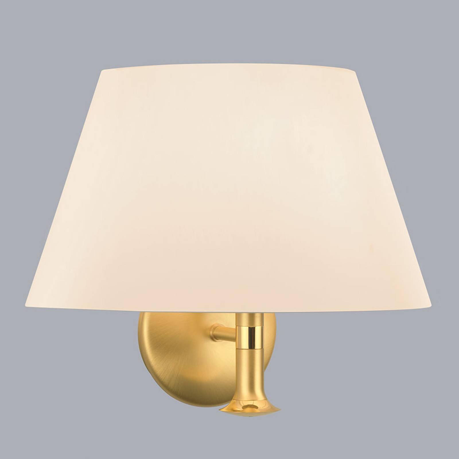 Wandlamp Royce met klassieke kap crème
