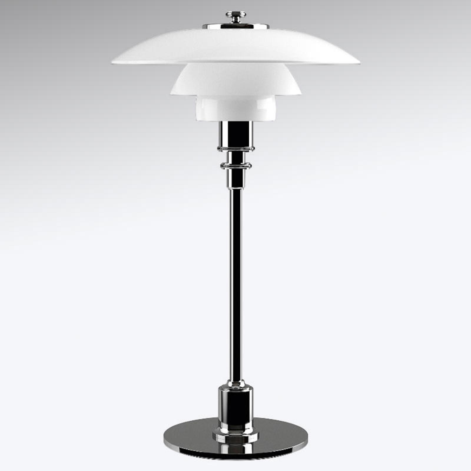 Louis Poulsen PH 2/1 Tischlampe hochglanzverchromt