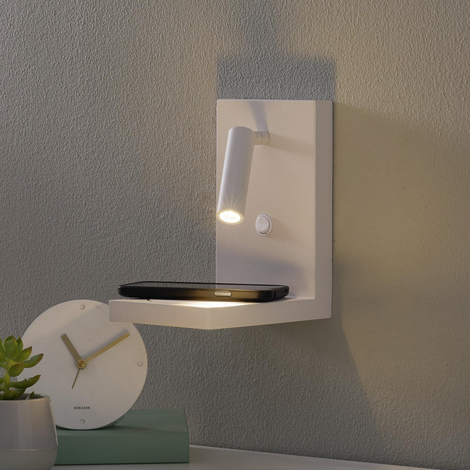 Applique LED Zanzibar avec liseuse, blanche