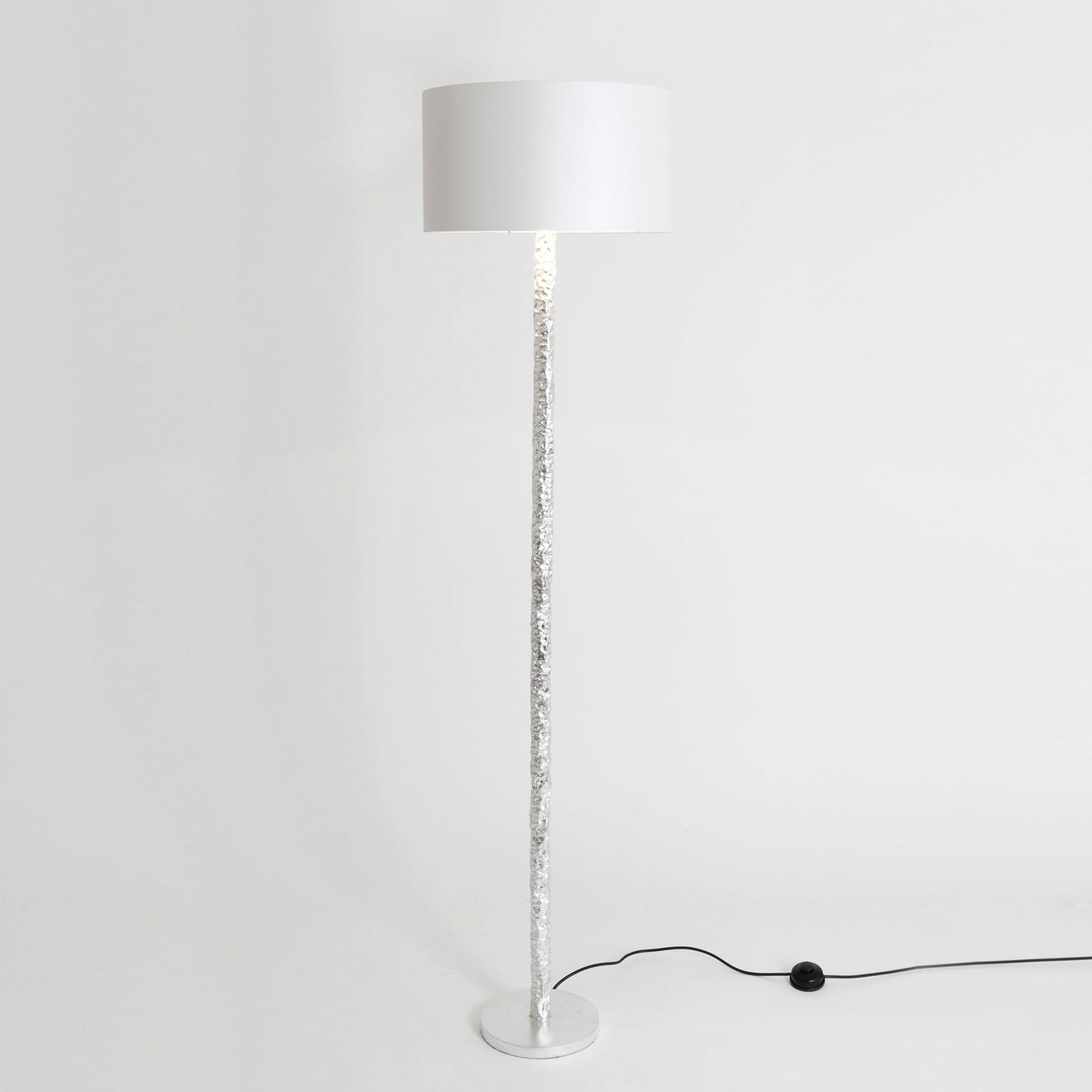 Vloerlamp Cancelliere Rotonda zijde wit/zilver