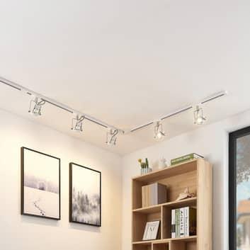 Binario LED monofase Arika, 5 luci, bianco