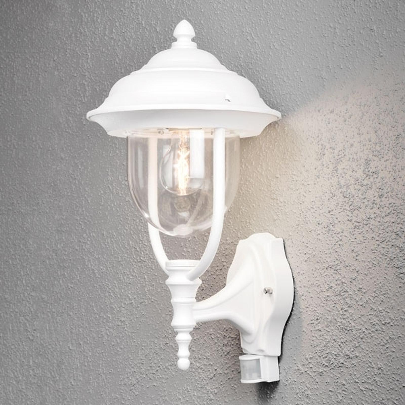 Außenwandlampe Parma mit Bewegungsmelder, weiß